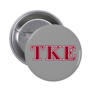 Tau Kappa Epsilon Red Letters Pinback Button