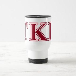 Tau Kappa Epsilon Red Letters Travel Mug