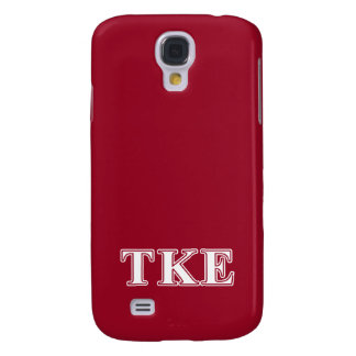 Tau Kappa Epsilon White and Red Letters Galaxy S4 Case