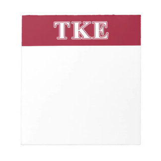 Tau Kappa Epsilon White and Red Letters Scratch Pads