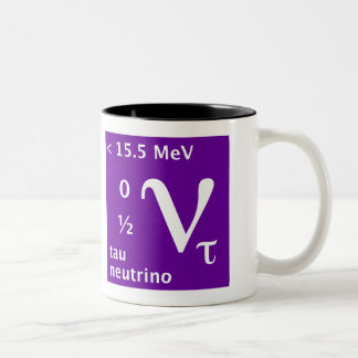 Tau neutrino (left handed) Two-Tone coffee mug
