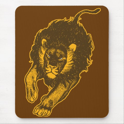 Tau Of The Lions Mousepad (gold)