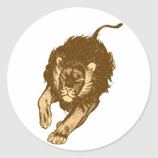 Tau Of The Lions sticker (brown)