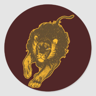 Tau Of The Lions Sticker (gold)