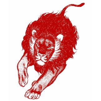 Tau Of The Lions women T-shirt (red) shirt