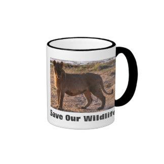 Tau Save Our Wildlife Ringer Coffee Mug
