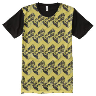 Tauati Chevron in Yellow All-Over-Print T-Shirt