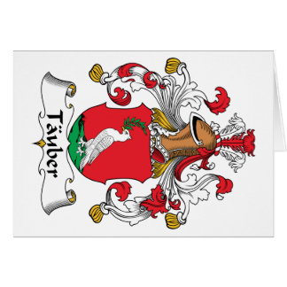 Tauber Family Crest Greeting Card