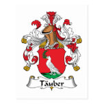 Tauber Family Crest Post Cards