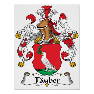 Tauber Family Crest Poster
