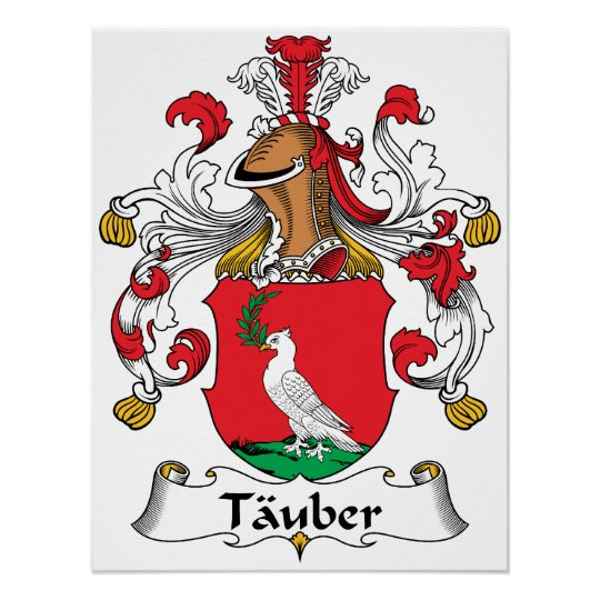 Tauber Family Crest Poster