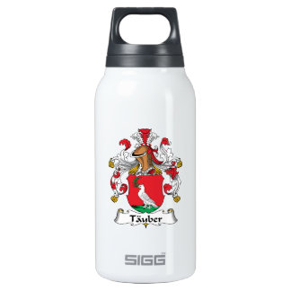 Tauber Family Crest 10 Oz Insulated SIGG Thermos Water Bottle