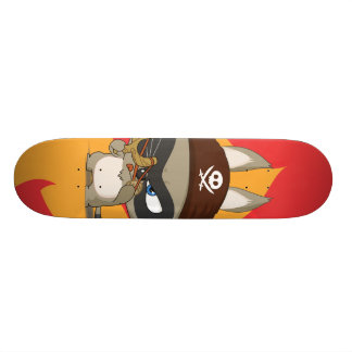 Taucoo on fire cartoon character skateboard