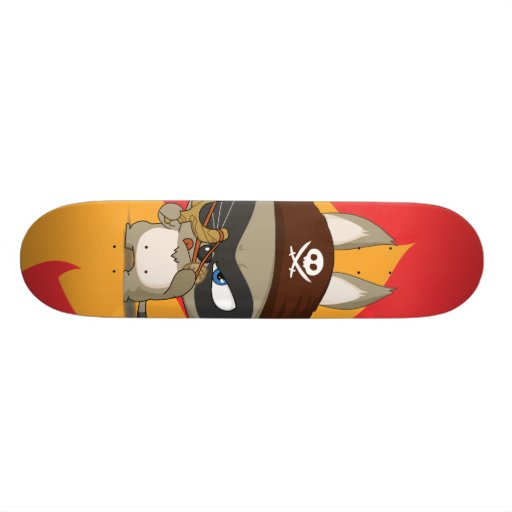 Taucoo on fire cartoon character skateboard