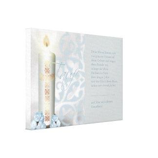 Taufe - Leinwand mit Sinnspruch Canvas Print