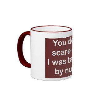 Taught by Nuns in Dark Red Ringer Mug