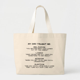 taught me large tote bag