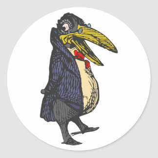 taught rabe academic to raven classic round sticker