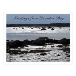 Taunton Bay in Blue Postcard