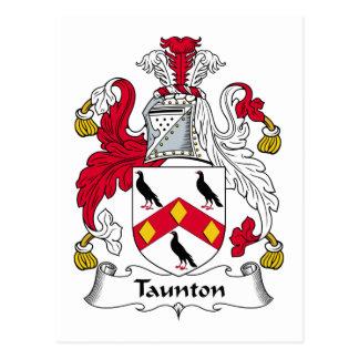 Taunton Family Crest Postcard
