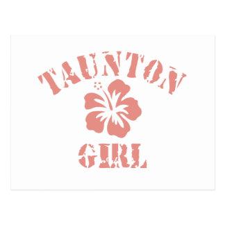 Taunton Pink Girl Postcard