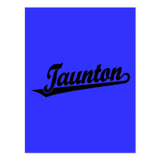 Taunton script logo in black postcard