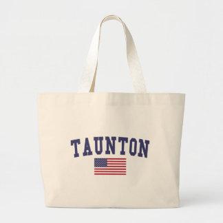 Taunton US Flag Large Tote Bag