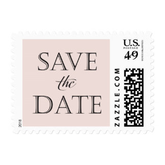Taupe and Black Save the Date Stamp