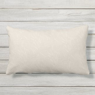 Taupe and Cream Texture Outdoor Lumbar Pillow
