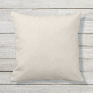 Taupe and Cream Texture Print Outdoor Pillow 16x16