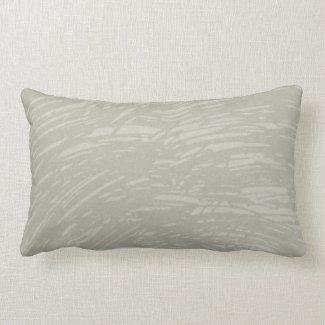 Taupe and Gray Streaks Lumbar Throw Pillow