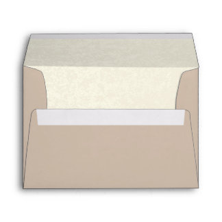 Taupe and Ivory Custom with Return Address Envelope