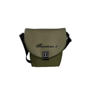 Taupe and Moss Survivor 1 Mini Messenger Bag