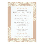 Taupe and White Lace Bridal Shower Card