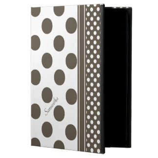 Taupe and White Polka Dot Pattern iPad Air 2 Case