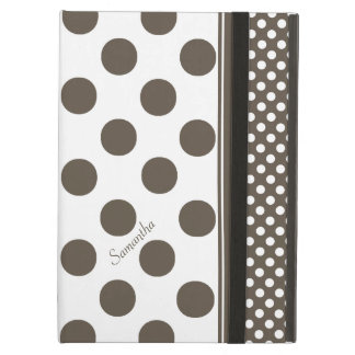 Taupe and White Polka Dot Pattern iPad Air Case
