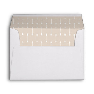 Taupe Arrows A7 Card Envelope