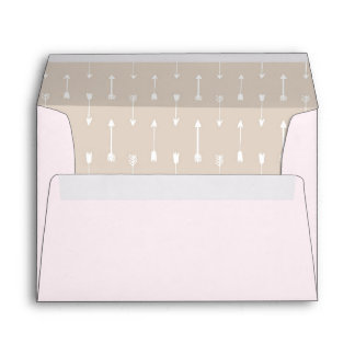 Taupe Arrows on Blush A7 Card Envelope