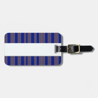 Taupe blue executive stripe luggage tags luggage tags