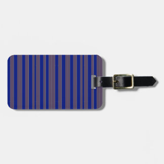 Taupe blue executive stripe luggage tags