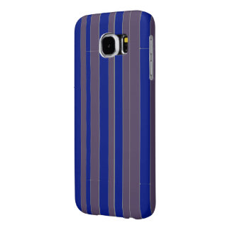 Taupe blue executive stripe pattern samsung galaxy s6 case