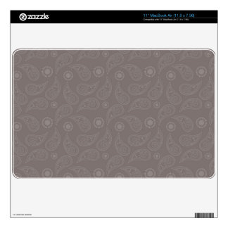 Taupe Brown Paisley Pattern Skin For The MacBook Air
