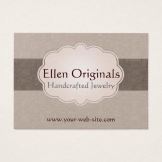 Taupe Brown Tan Cloud Badge Business Card