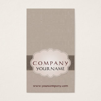 Taupe Brown Tan Cloud Badge Business Card