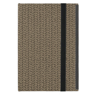 Taupe Brown Weave Mesh Look Cover For iPad Mini