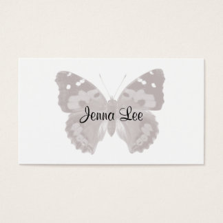 Taupe Butterfly / Moth Personalized Business Cards