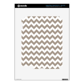Taupe Chevron Pattern iPad 3 Decals