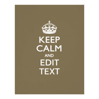 Taupe Coffee Keep Calm And Your Text Easily Flyer