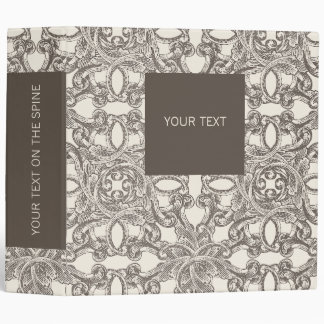 Taupe Damask Binder Template for Business