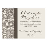Taupe Damask Business Customer Loyalty Cards Business Card Template